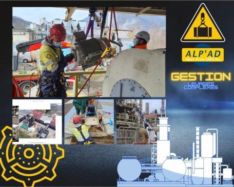 ALP'AD : remplacement d'un ensemble de moteurs difficiles d'accès à Annecy